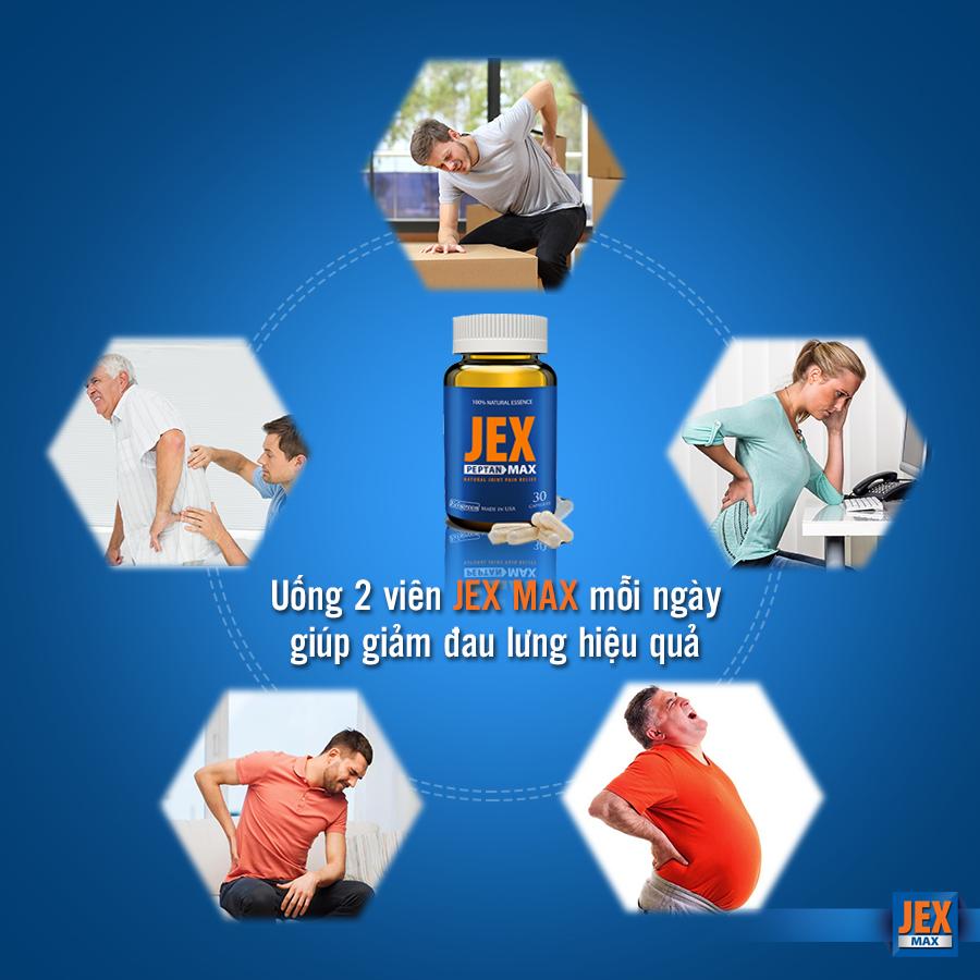 Jex max khắc phục bệnh xương khớp