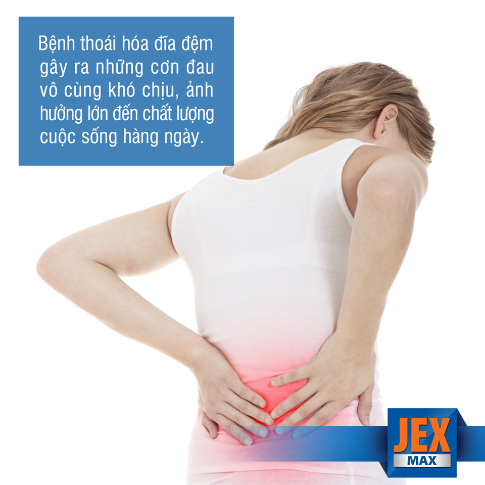 jex max có thể hỗ trợ cải thiện bệnh thoái vị đĩa đệm
