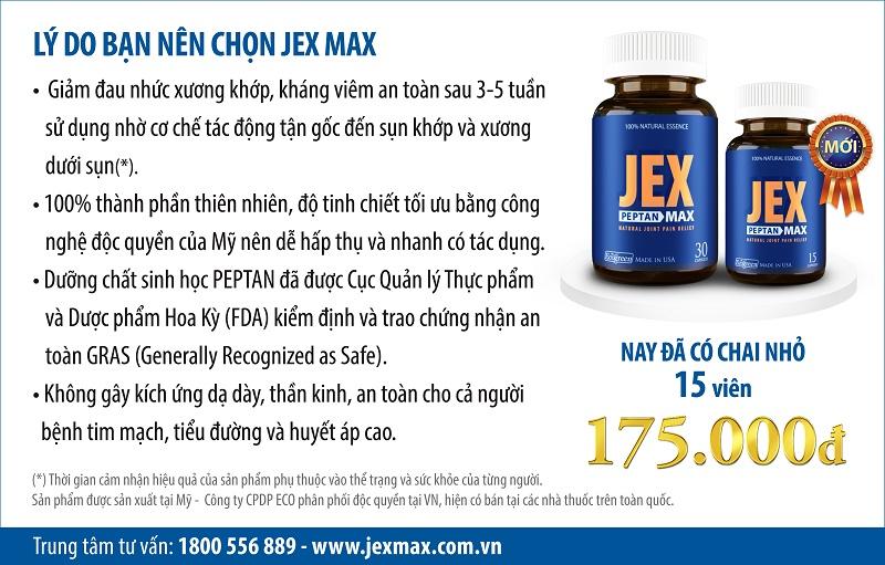 Jexmax giảm đau nhức xương khớp