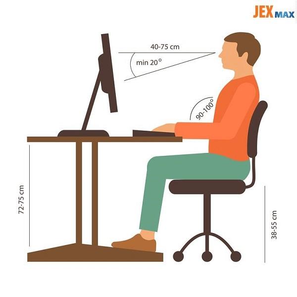 ngồi máy tính đúng tư thế